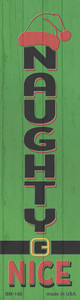 Naughty Nice Green Wholesale Novelty Metal Bookmark BM-140