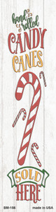 Candy Canes Sold Here White Wholesale Novelty Metal Bookmark BM-156