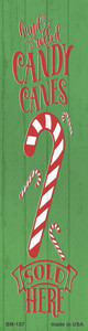 Candy Canes Sold Here Green Wholesale Novelty Metal Bookmark BM-157