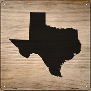 Texas Shape Letter Tile Wholesale Novelty Metal Square Sign