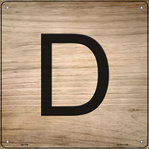 D Letter Tile Wholesale Novelty Metal Square Sign SQ-1106