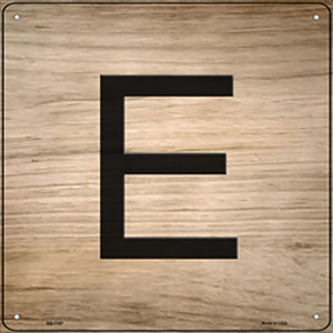 E Letter Tile Wholesale Novelty Metal Square Sign