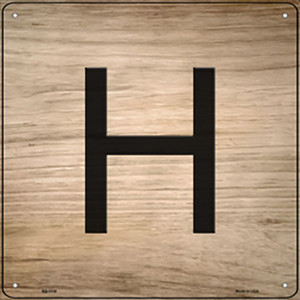 H Letter Tile Wholesale Novelty Metal Square Sign SQ-1110