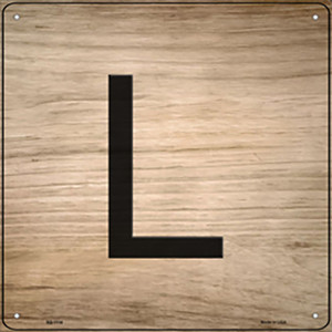 L Letter Tile Wholesale Novelty Metal Square Sign SQ-1114