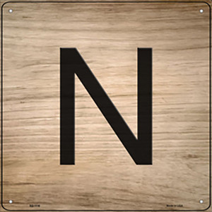 N Letter Tile Wholesale Novelty Metal Square Sign SQ-1116