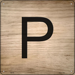 P Letter Tile Wholesale Novelty Metal Square Sign SQ-1118