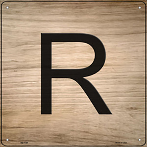 R Letter Tile Wholesale Novelty Metal Square Sign SQ-1120