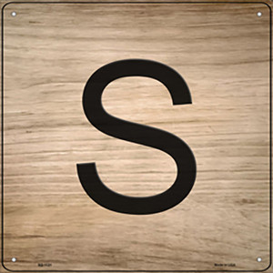 S Letter Tile Wholesale Novelty Metal Square Sign