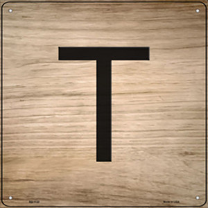 T Letter Tile Wholesale Novelty Metal Square Sign