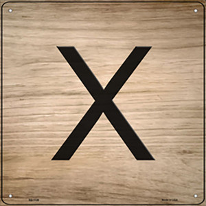 X Letter Tile Wholesale Novelty Metal Square Sign SQ-1126