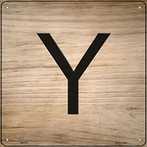 Y Letter Tile Wholesale Novelty Metal Square Sign SQ-1127