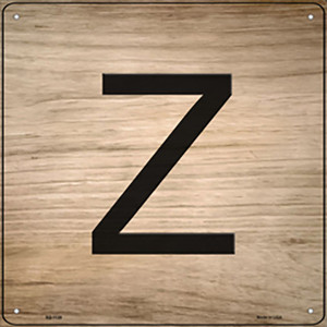 Z Letter Tile Wholesale Novelty Metal Square Sign SQ-1128