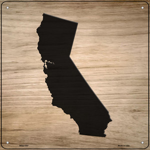 California Shape Letter Tile Wholesale Novelty Mini Metal Square Sign MSQ-1057