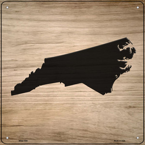 North Carolina Shape Letter Tile Wholesale Novelty Mini Metal Square Sign MSQ-1085