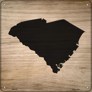 South Carolina Shape Letter Tile Wholesale Novelty Mini Metal Square Sign MSQ-1092