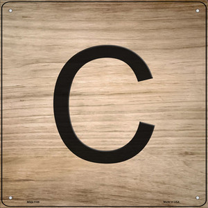 C Letter Tile Wholesale Novelty Mini Metal Square Sign MSQ-1105