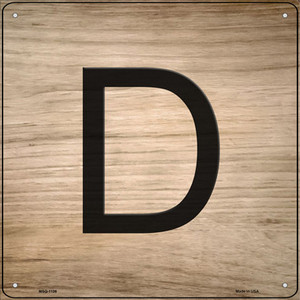 D Letter Tile Wholesale Novelty Mini Metal Square Sign MSQ-1106