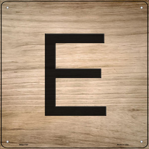 E Letter Tile Wholesale Novelty Mini Metal Square Sign MSQ-1107