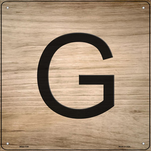 G Letter Tile Wholesale Novelty Mini Metal Square Sign MSQ-1109