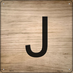 J Letter Tile Wholesale Novelty Mini Metal Square Sign MSQ-1112