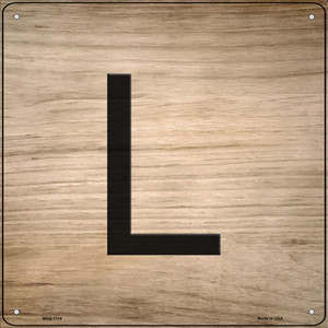 L Letter Tile Wholesale Novelty Mini Metal Square Sign MSQ-1114