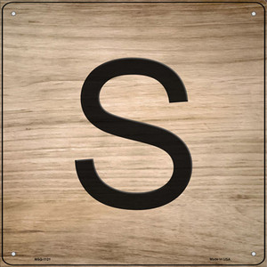 S Letter Tile Wholesale Novelty Mini Metal Square Sign MSQ-1121