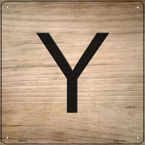 Y Letter Tile Wholesale Novelty Mini Metal Square Sign MSQ-1127