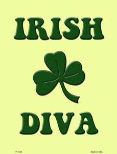 Irish Diva Wholesale Metal Novelty Parking Sign