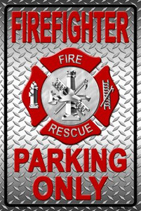 Firefighter Parking Only Wholesale Novelty Metal Parking Sign