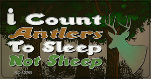 I Count Antlers To Sleep Wholesale Novelty Metal Key Chain Tag KC-13769