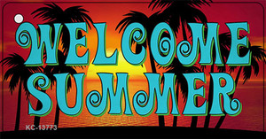 Welcome Summer Wholesale Novelty Metal Key Chain Tag KC-13773