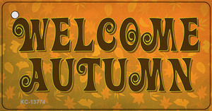 Welcome Autumn Wholesale Novelty Metal Key Chain Tag KC-13774