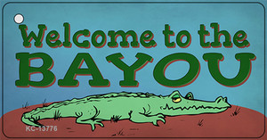 Welcome To The Bayou Wholesale Novelty Metal Key Chain Tag KC-13776