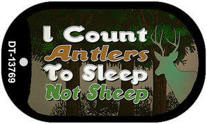 I Count Antlers To Sleep Wholesale Novelty Metal Dog Tag Necklace Tag DT-13769