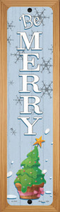 Be Merry Wholesale Novelty Wood Mounted Small Metal Street Sign WB-K-1707
