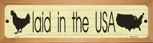 Laid In The USA Wholesale Novelty Wood Mounted Small Metal Street Sign WB-K-1714