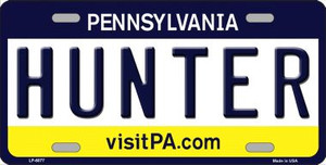 Hunter Pennsylvania State Background Novelty Wholesale Metal License Plate