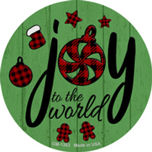 Joy To The World Wholesale Novelty Metal Circle Magnet CM-1353