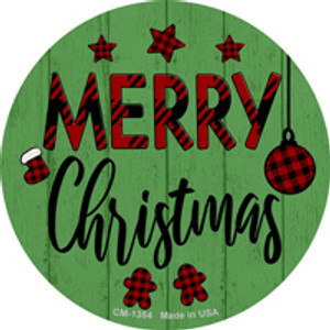 Merry Christmas Wholesale Novelty Metal Circle Magnet CM-1354