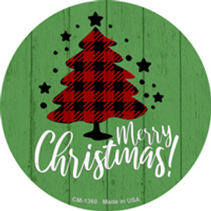Merry Christmas With Tree Wholesale Novelty Metal Circle Magnet CM-1360