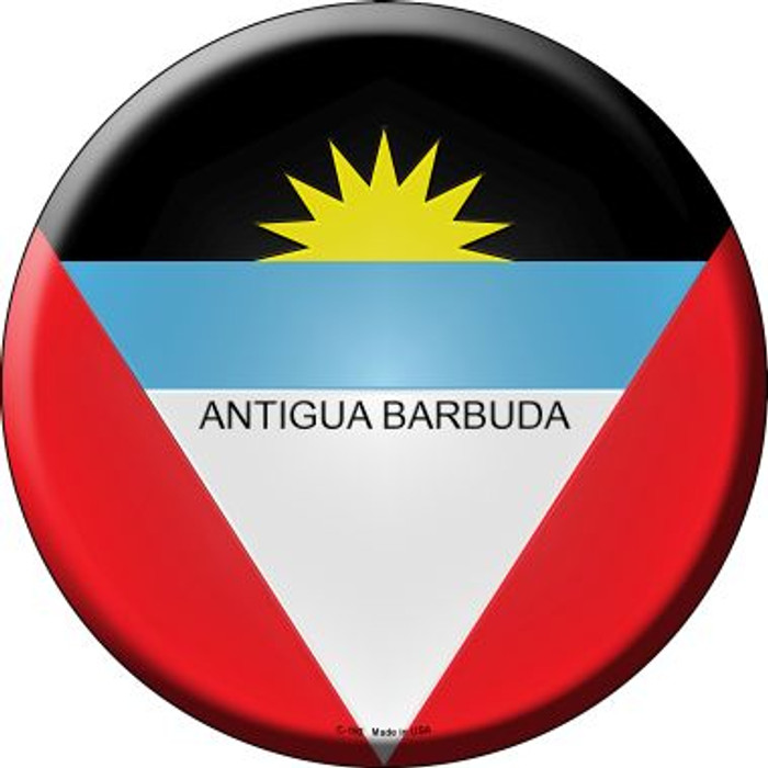 Antigua Barbuda Country Wholesale Novelty Metal Circular Sign