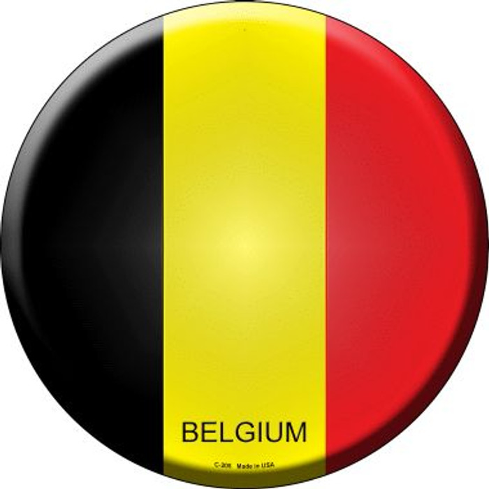 Belgium Country Wholesale Novelty Metal Circular Sign