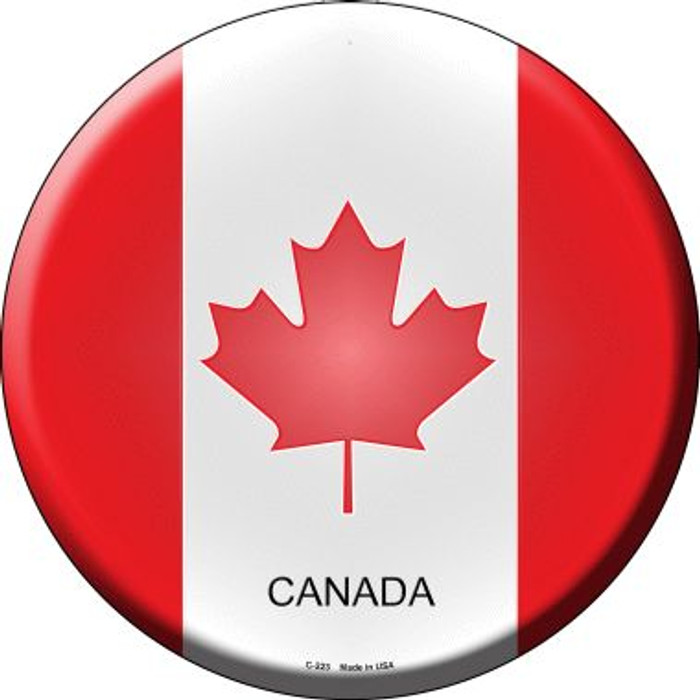 Canada Country Wholesale Novelty Metal Circular Sign