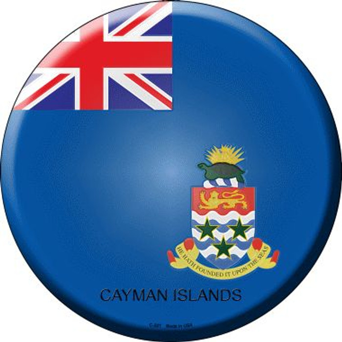 Cayman Islands Country Wholesale Novelty Metal Circular Sign