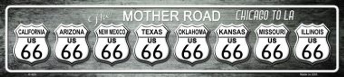 Route 66 Chicago To LA Wholesale Metal Novelty Street Sign