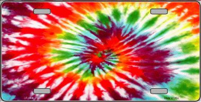 Red Swirl Tie-Dye Wholesale Metal Novelty License Plate