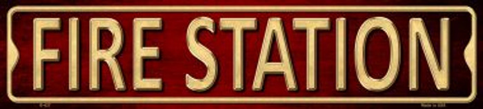 Fire Station Wholesale Metal Novelty Street Sign