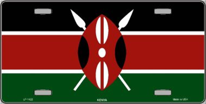 Kenya Flag Wholesale Metal Novelty License Plate LP-1422