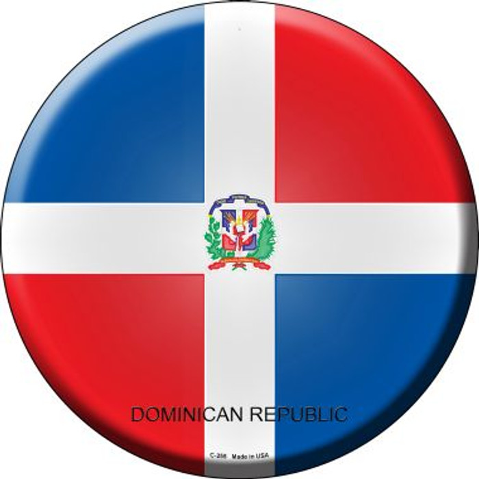 Dominican Republic Country Wholesale Novelty Metal Circular Sign