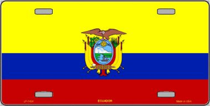 Ecuador Flag Wholesale Metal Novelty License Plate LP-1424